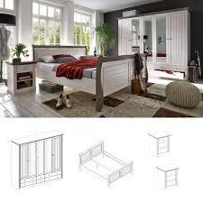 Schlafzimmer Komplett Jugend Schlafzimmer Monaco 4tlg Set Komplett White Wash Stone Gebeizt