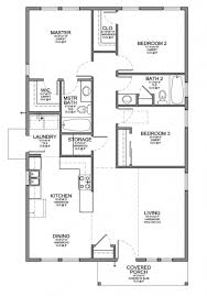 Floor Plans For Small Cabins Awesome Floor Plan For A Small House 1150 Sf With 3 Bedrooms And 2