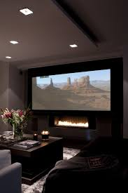 movie decor for the home home theater with fireplace http www homedecoratings net home