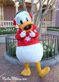 donald duck disneyland resort costumed characters