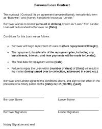 personal loan contract template