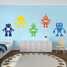 robots vinyl wall stickers by mirrorin notonthehighstreet com