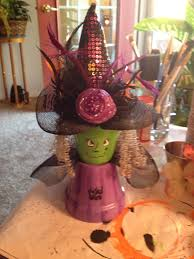 halloween clay pot crafts witch clay pot macetas figuras pinterest witches clay and craft