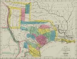 Mexican State Map by Coahuila And Texas The Handbook Of Texas Online Texas State