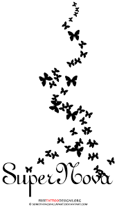 design loralai s name with butterflies idea