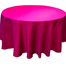 fuschia pink table cloth top 10 pack 120 inch round polyester tablecloth 24 color table cover