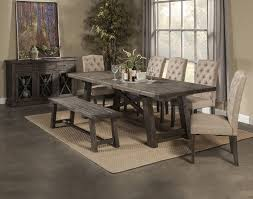 alpine furniture newberry 7 piece extension dining room set in