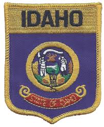 Uniform Flag Patch Idaho Large Flag Shield Embroidered Patch For Souvenir Or Uniform Id