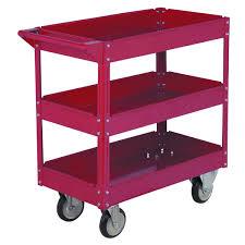 30 in x 16 in three shelf steel service cart shelves steel
