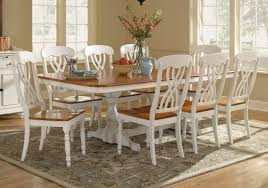 9 piece dining room set piece white dining set