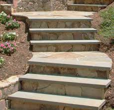 nice landscape stairs design use cheap keystone retaining wall