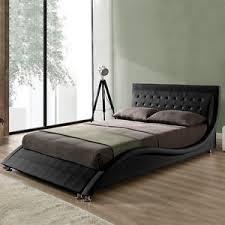 Curved Bed Frame Modern Designer Curved Bed Frame King Size Black White Faux