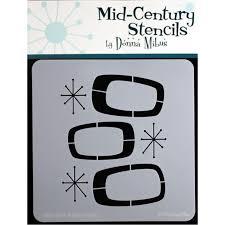 mid century modern stencils istencils