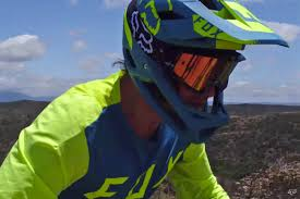 lightweight motocross helmet fox proframe opens up for a lighter more breathable full face