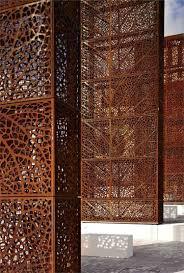 deco plaque metal panneau occultant et clôture brise vue en métal en 65 idées