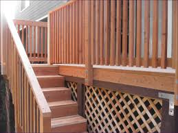 outdoor marvelous lattice deck railing wrought iron railings