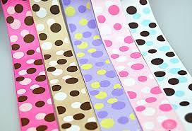 bulk grosgrain ribbon bulk color dot print grosgrain ribbon 9mm 16mm 25mm