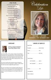 templates for funeral program funeral program template inside consists of an