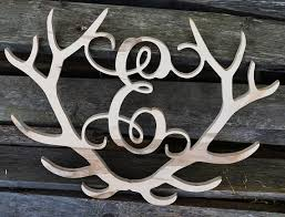 deer decor for home 36 deer antler monogram outdoor decor home decor