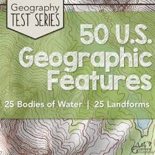 map us landforms us physical geography map test series 3 pack water landforms tpt
