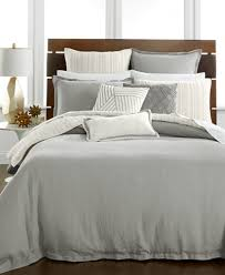 duvet covers hotel collection linen fog duvet covers created for macy s