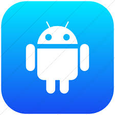 square android social media android icon style flat rounded square white on