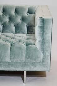 Green Velvet Tufted Sofa by Modern Tufted Velvet Tuxedo Sofa For Sale At 1stdibs