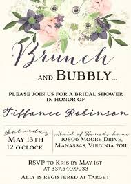 brunch bridal shower invitations watercolor brunch and bubbly bridal shower invitation sugar and