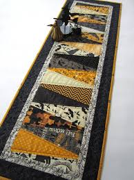 quilted table runner patchwork mountain