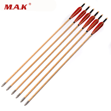 6 12 24pcs 30 inch wooden arrow with white pine arrow shafts and