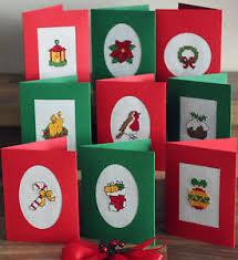 set of 9 traditional cross stitch cards kit ebay