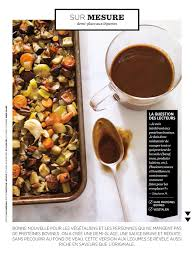 ricardo cuisine francais demi glace aux légumes sans protéines bovines de ricardo français