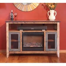 Rustic Electric Fireplace 60 Inch Tv Stand With Fireplace Fireplace Ideas