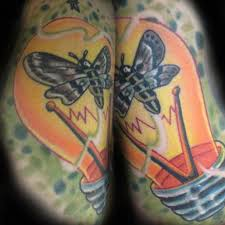 butterfly light bulb tattoo design photos pictures and sketches