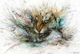 Chinese Art Design Splattered Ink Animal Paintings By Chinese Artist Hua Tunan Part 915
