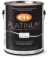 cil platinum 100 acrylic exterior pre tinted black 3 78 l