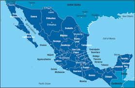 map of mexico with states data map states and major cities of mexico business