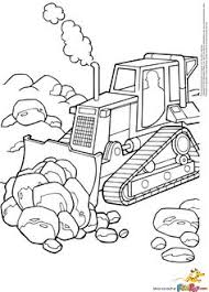 the bulldozer is ready for the construction coloring page arc