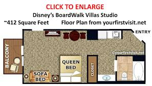 disney boardwalk villas floor plan photo tour of a studio at disney s boardwalk villas disney s
