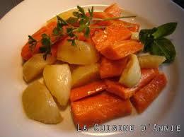cuisiner les carottes recette carottes et navets glacés la cuisine familiale un plat