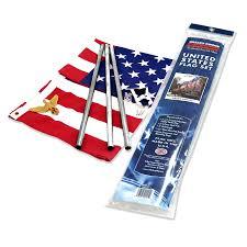 3x5 Foot Flag Valley Forge Residential Flag Kit W 3 U0027 X 5 U0027 Us Flag