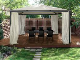 Covered Gazebos For Patios Beautiful Creamy Vinyl Hexagon Shaped Canopy Gazebos With Soft