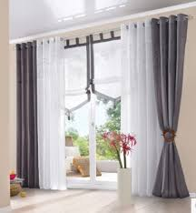 White Grey Curtains Photos Window Curtain Of Morden Embroidered Cotton Balcony Window