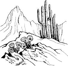 desert scene coloring page desert biome outline clipart