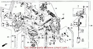 16100 kk1 014 carburetor assy xr250r 1984 e usa 16100kk1004