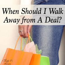 save money when to walk away from deals thrifty t s treasures