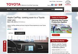 toyota web page toyota announces carplay support is coming in 2015 then retracts