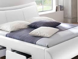 Schlafzimmer Komplett Lederbett Polsterbett Lando Bett 180x200 Cm Weiß 4 Schubkasten Doppelbett