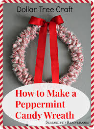 serendipity refined blog diy holiday peppermint wreath dollar
