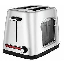 See Theough Toaster Toaster Gourmia Gwt430 Stainless Steel Wide Slot Toaster With See